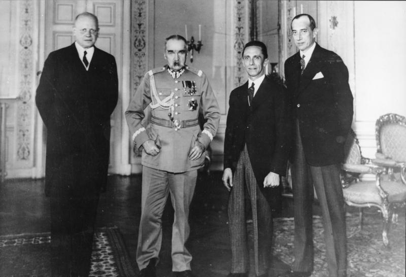 Warschau, Empfang Goebbels bei Marschall Pilsudski