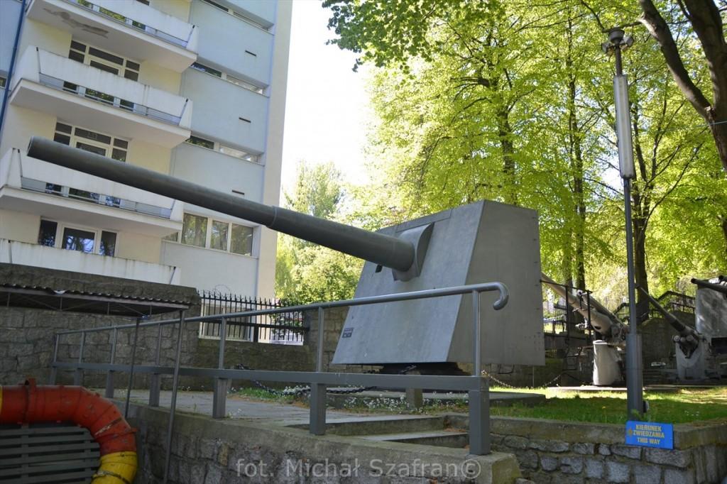 152,4 mm armata Bofors, Muzeum Marynarki Wojennej w Gdyni, fot. Michał Szafran, odwaszegofotokorespondenta.blogspot.com
