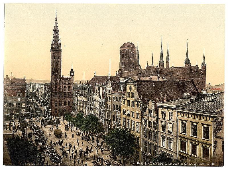 Gdańsk między 1890 a 1900 rokiem. Źródło: United States Library of Congress, domena publiczna.