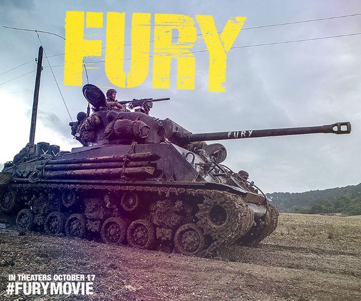 """Źródło grafiki: oficjalny fanpage filmu """"Furia"""": www.facebook.com/Fury"""