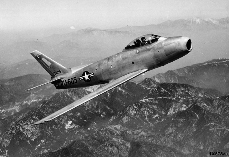F-86A Sabre, źródło: Wikimedia Commons, domena publiczna.