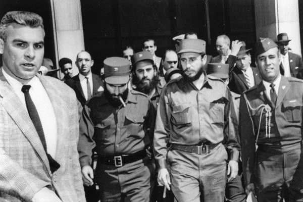 Fidel Castro podczas wizyty w Waszyngtonie, kwiecień 1959. Źródło: Wikimedia Commons, domena publiczna.