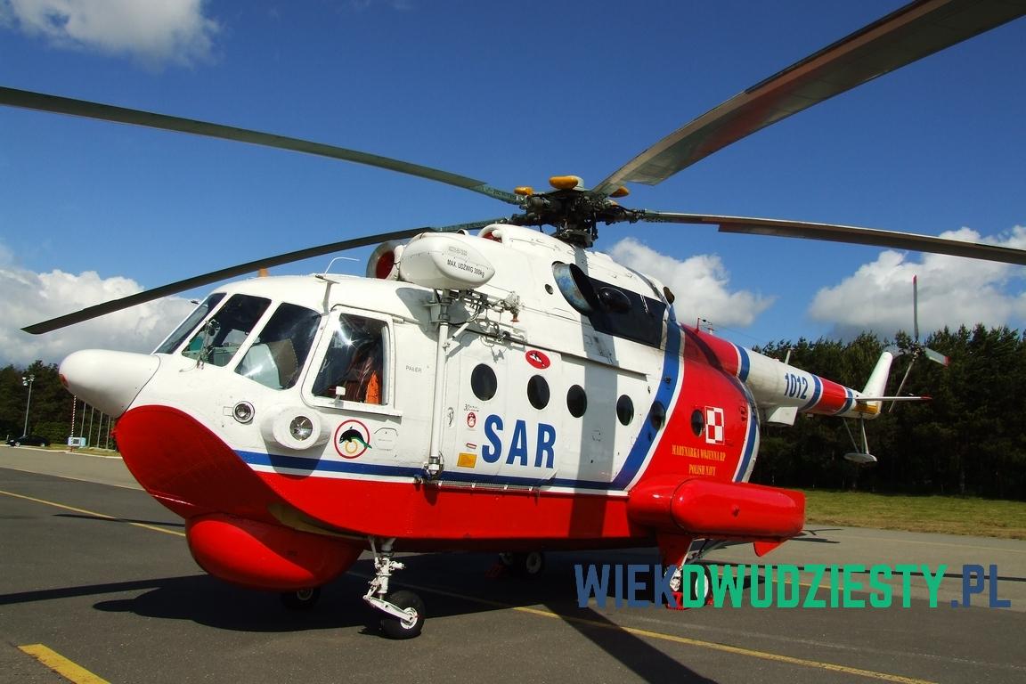 """Mi-14PŁ\R n\b 1012. Jest to dostosowany do zadań ratowniczych śmigłowiec ZOP. Od oznaczenia PŁ\R nosi przydomek """"Pałer"""" Fot. Michał Szafran, odwaszegofotokorespondenta.blogspot.com"""