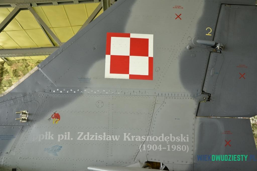 Nazwisko dowódcy III/1 Dywizjonu Myśliwskiego na samolocie MiG-29. fot. Michał Szafran, odwaszegofotokorespondenta.blogspot.com
