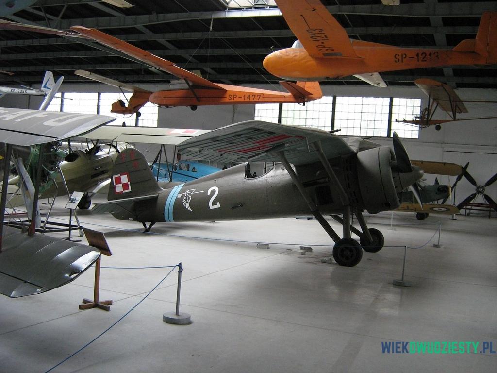 PZL  P.11c z Muzeum Lotnictwa Polskiego. Egzemplarz ten latał w 121 Eskadrze 2 Pułku Lotniczego w Krakowie, fot. Michał Szafran, odwaszegofotokorespondenta.blogspot.com