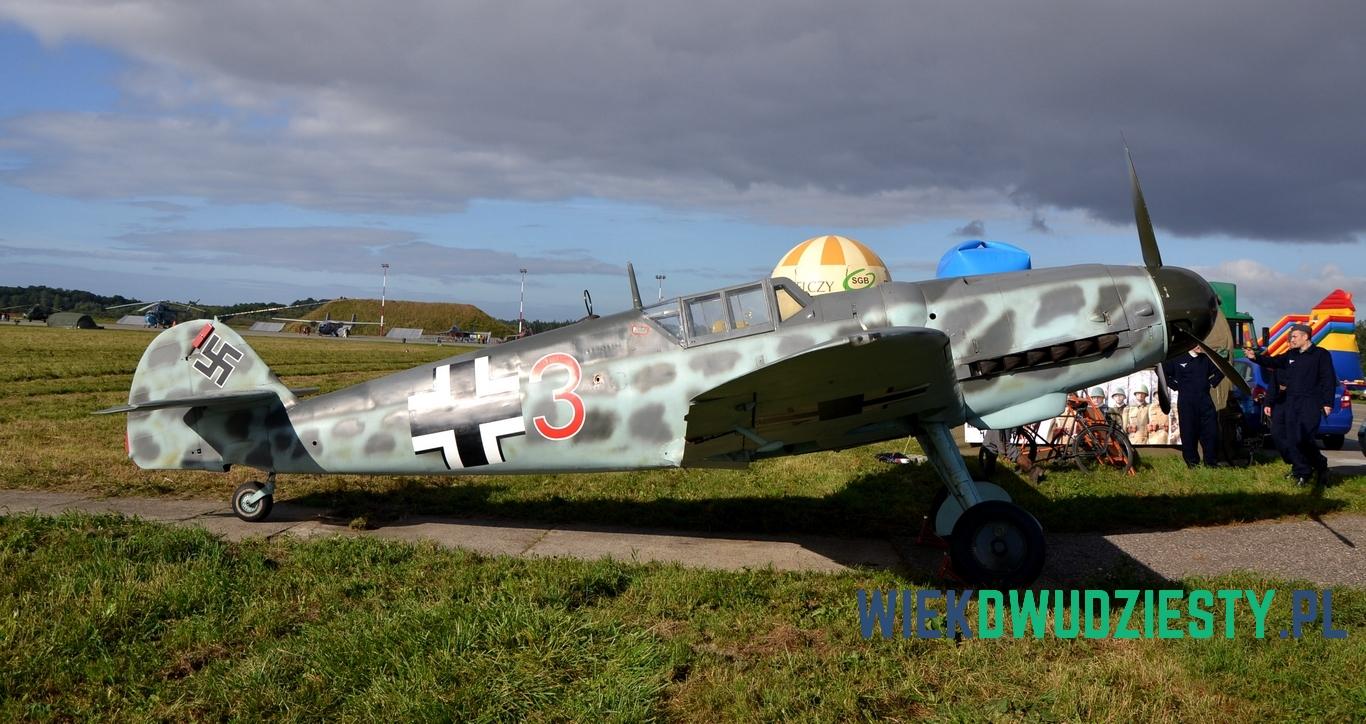 Messerschmitt Bf 109G-6, wydobyty z jeziora Trzebuń. Odrestaurowany przez Fundację Polskie Orły. Fot. Michał Szafran, odwaszegofotokorespondenta.blogspot.com
