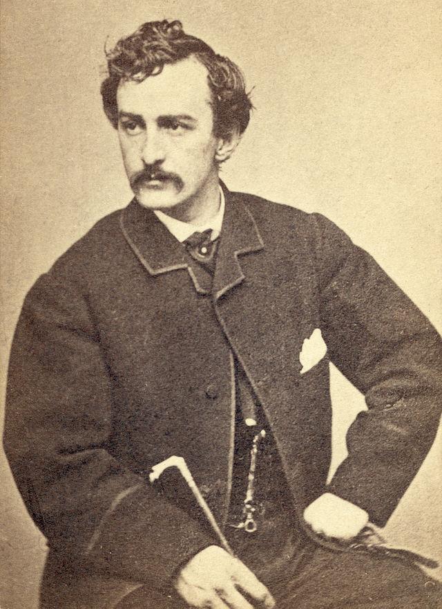 John Wilkes Booth. Źródło: Wikimedia Commons, domena publiczna.