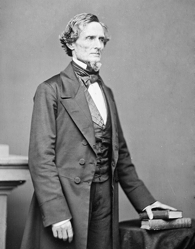 Prezydent Skonfederowanych Stanów Ameryki Jefferson Finis Davis. Źródło: National Archives and Records Administration, domena publiczna.