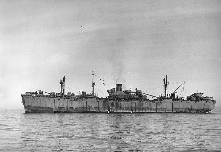 """Transportowiec typu """"Liberty"""". Źródło: Wikimedia Commons, domena publiczna."""