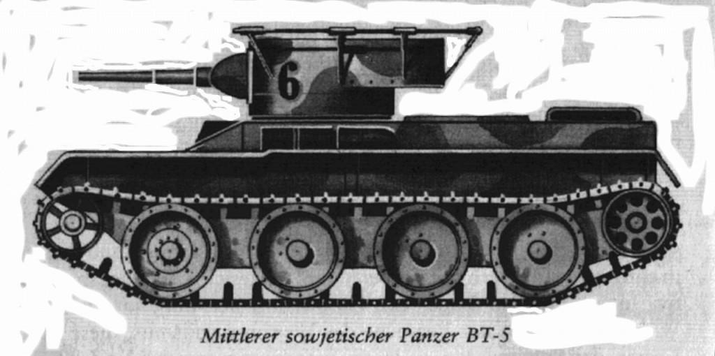 Czołg BT-5. Źródło: Wikimedia Commons, domena publiczna.