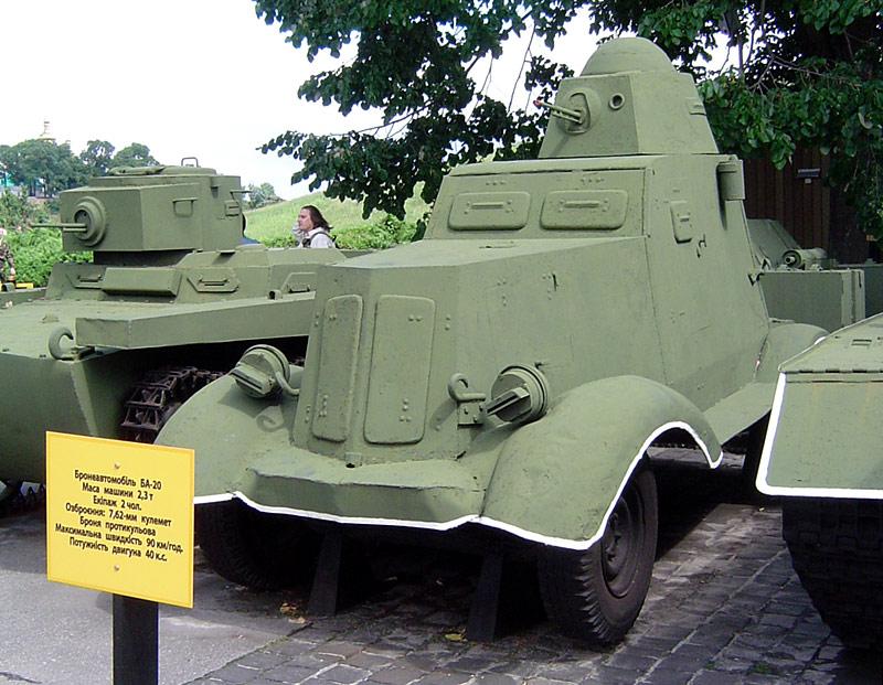 Samochód pancerny BA-20. Źródło: Wikimedia Commons, licencja: CC BY-SA 3.0