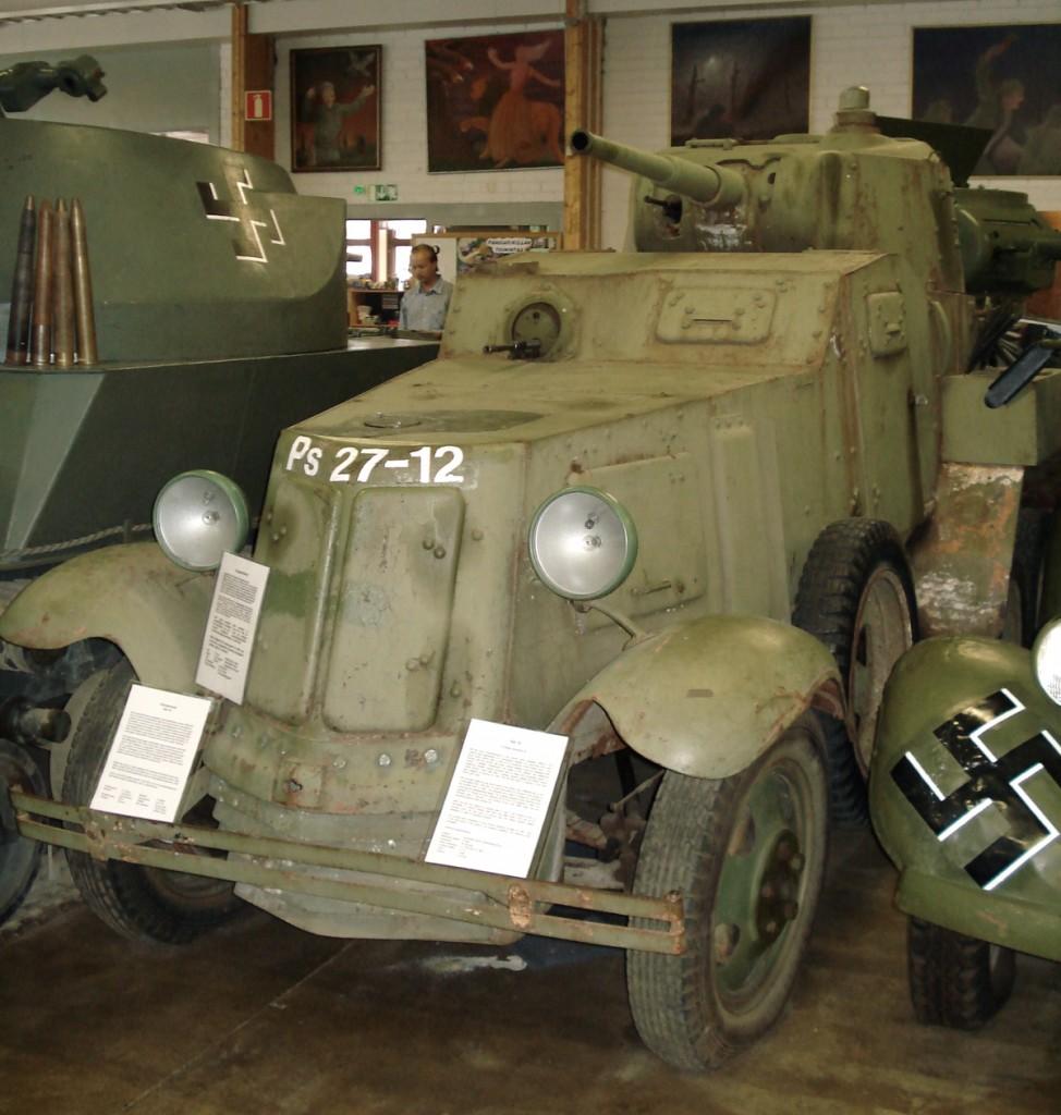 Samochód pancerny BA-10. Źródło: Wikimedia Commons, licencja: CC BY-SA 3.0