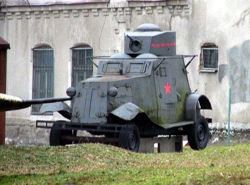 Samochód pancerny FAI. Źródło: Wikimedia Commons, licencja: CC BY-SA 3.0