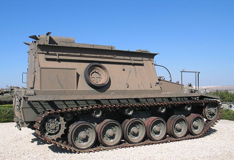 Centurion BARV (Beach Armoured Recovery Vehicle) w Muzeum Yad la-Shiryon. Źródło: Wikimedia Commons, licencja: CC BY-SA 2.5