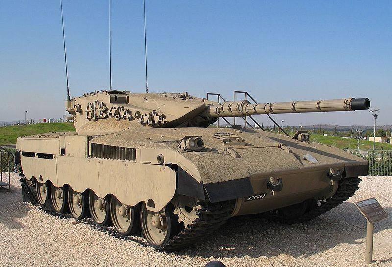 Czołg Merkava Mk I 2 w Muzeum Yad la-Shiryon. Źródło: Wikimedia Commons, licencja: CC BY-SA 2.5