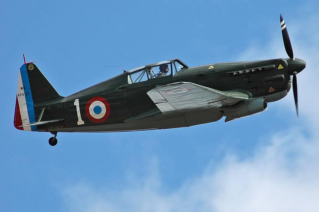 Morane-Saulnier MS.406. Źródło: Wikimedia Commons, licencja: GFDL