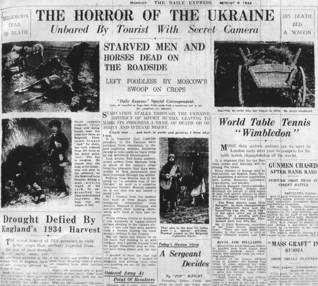 Nowojorski dziennik relacjonuje dramatyczne skutki klęski głodu. Źródło: Wikimedia Commons, domena publiczna.