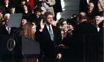 Zaprzysiężenie Billa Clintona, 20 stycznia 1993. Źródło: Wikimedia Commons, domena publiczna.