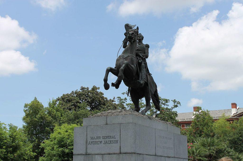 Pomnik prezydenta Andrew Jacksona w Nowym Orleanie. Źródło: Wikimedia Commons, licencja: CC BY-SA 4.0