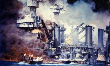 Ratowanie rozbitków z USS Virginia. Źródło: Wikimedia Commons, domena publiczna.