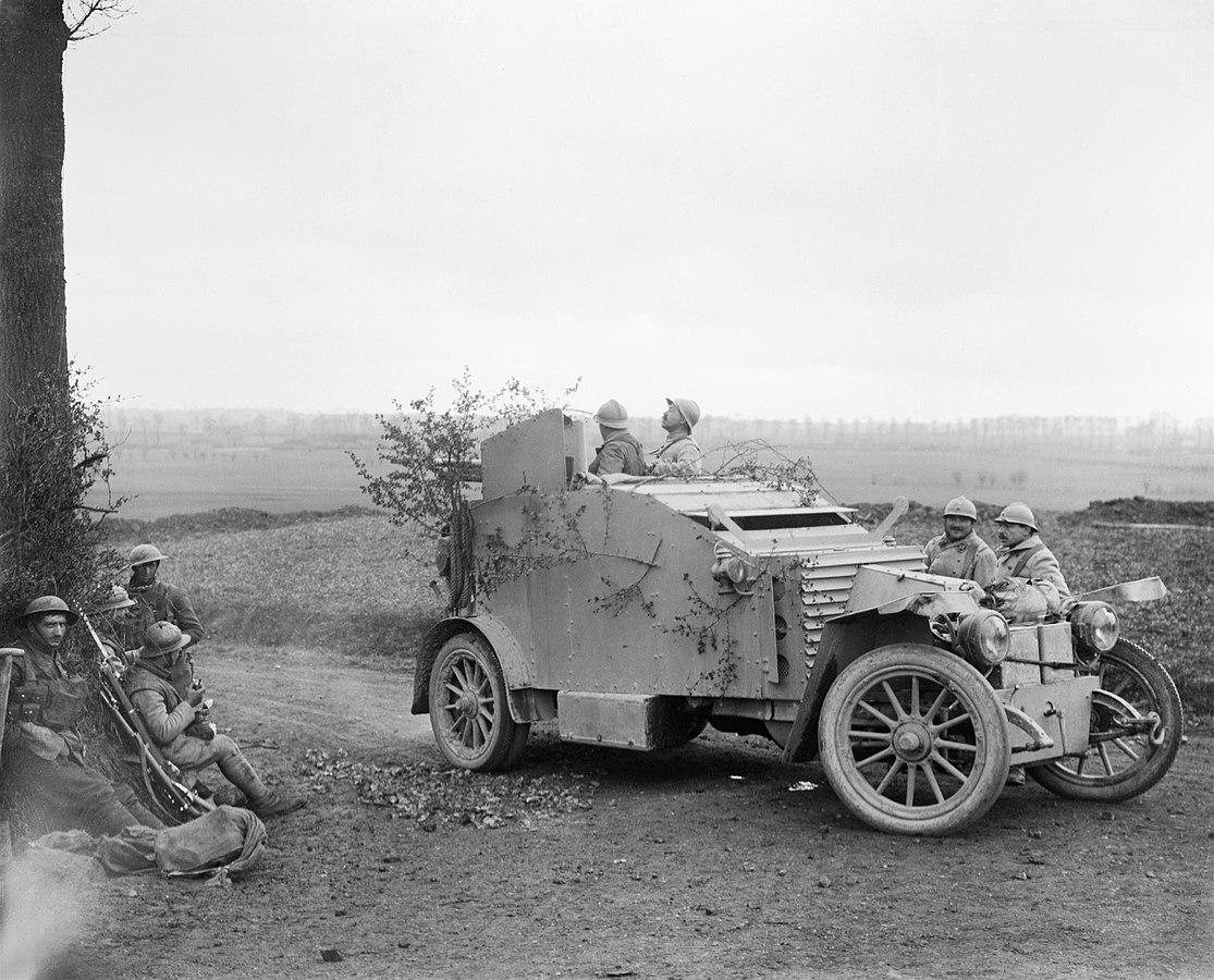 Francuski samochód pancerny, 1918.