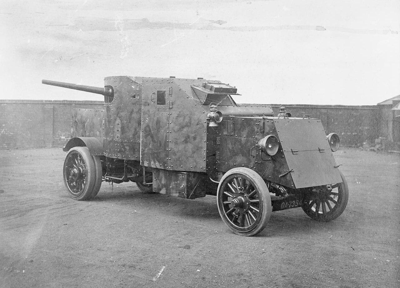 Samochód pancerny Pierce-Arrow z armatą 47 mm.