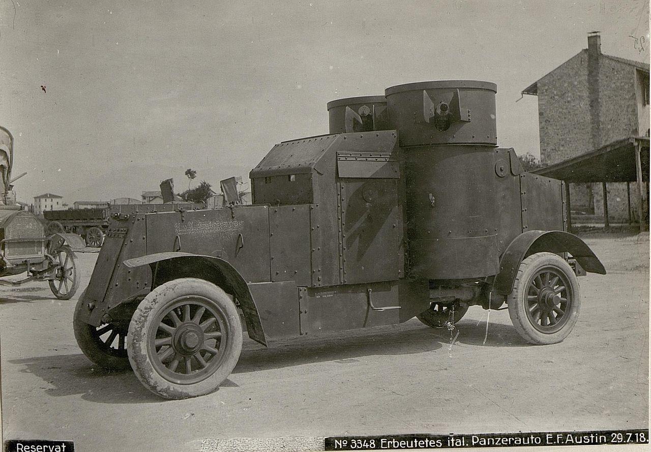Rosyjski samochód pancerny Austin.